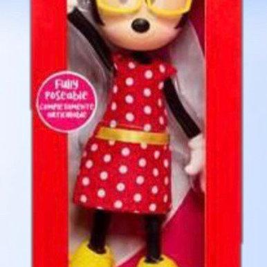 בובת מיני מאוס עם משקפיים