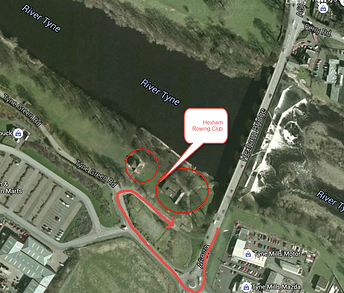 map of Hexham Rowing Club