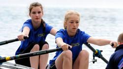 Hexham Rowing club juniors at Talkin Tarn Regatta 2014