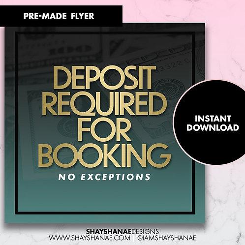 Pre-made Deposit Flyer #87 [Instant Download]