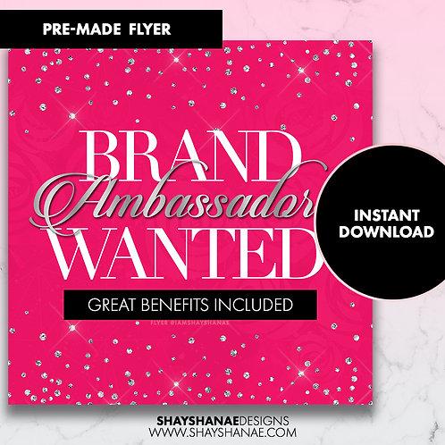 Pre-made Brand Ambassador Flyer; Hot Pink [Instant Download]