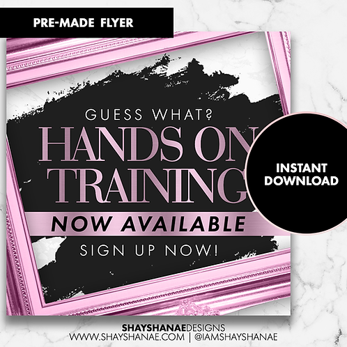 Pre-made Training Flyer #98 [Instant Download]