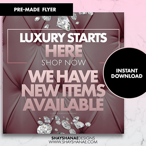 Pre-made Luxury Flyer; Champagne [Instant Download]