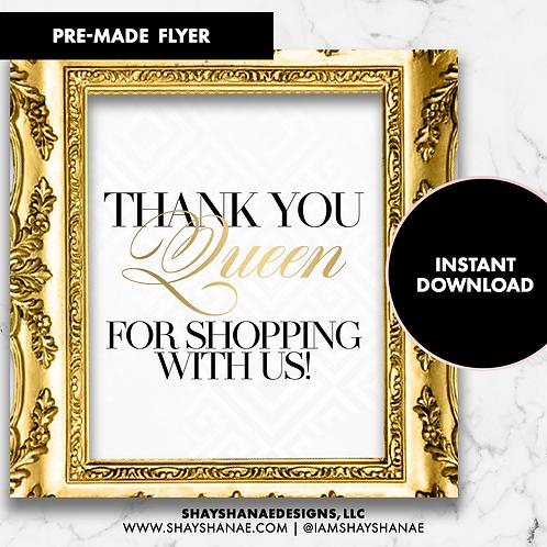 Pre-made Queen Flyer #143 [Instant Download]