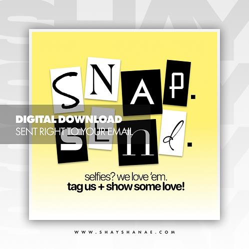 Snap, Send Premade Flyer (Yellow) [Digital Download]