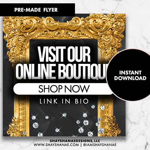 Pre-made Boutique Flyer #156 [Instant Download]
