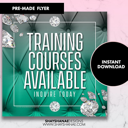 Pre-made Training Courses Flyer; Teal [Instant Download]
