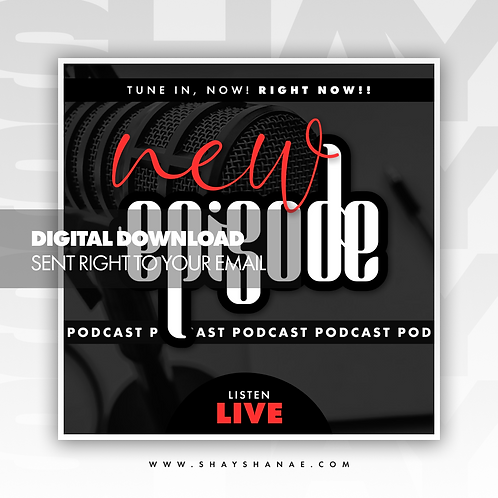 Podcast Premade Flyer (Red) [Digital Download]
