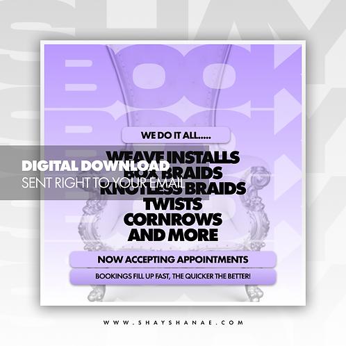 Book Now (Purple) Premade [Digital Download]