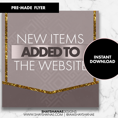 Pre-made New Items Flyer #93 [Instant Download]