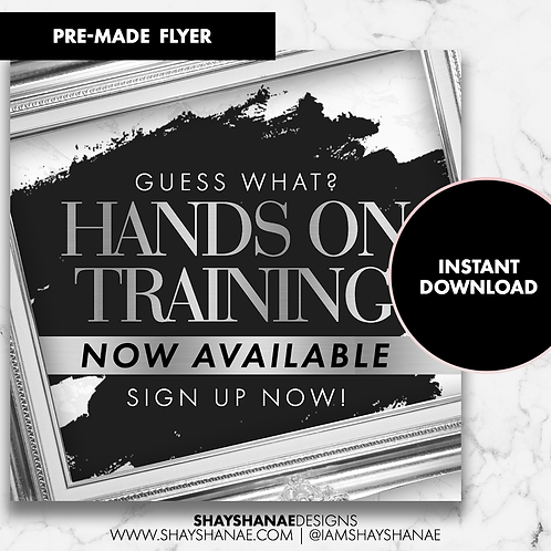 Pre-made Training Flyer #96 [Instant Download]