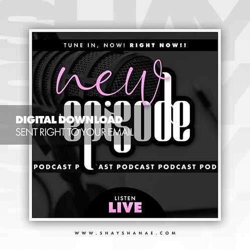 Podcast Premade Flyer (Pink) [Digital Download]