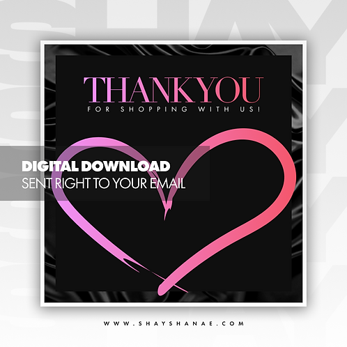 Thank You Premade Flyer (Pretty) [Digital Download]