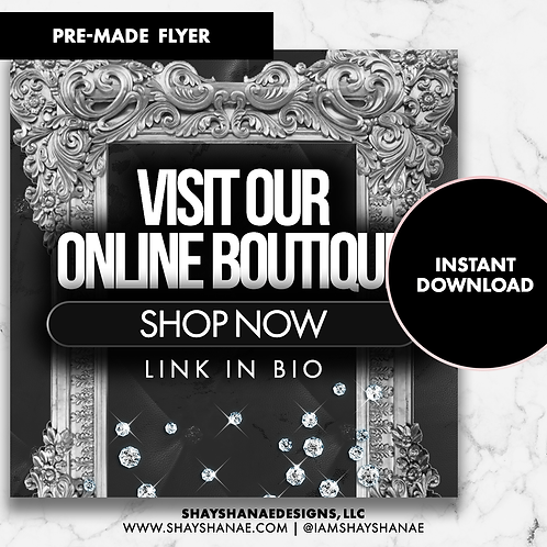 Pre-made Boutique Flyer #158 [Instant Download]