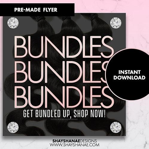 Pre-made Get Bundles Flyer; Light Pink [Instant Download]