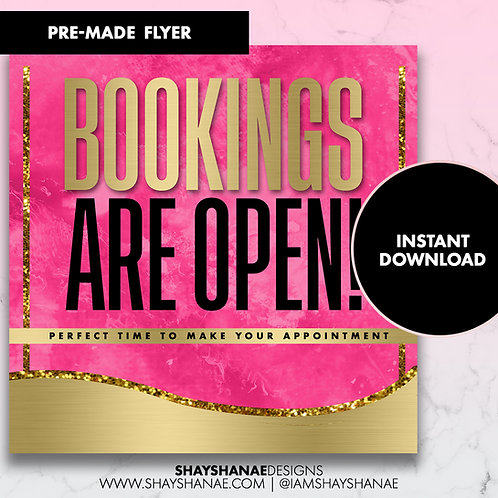 Pre-made Booking Flyer #82 [Instant Download]