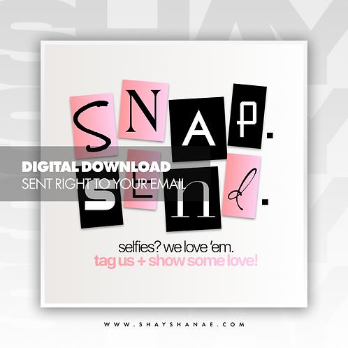 Snap, Send Premade Flyer (Coral) [Digital Download]