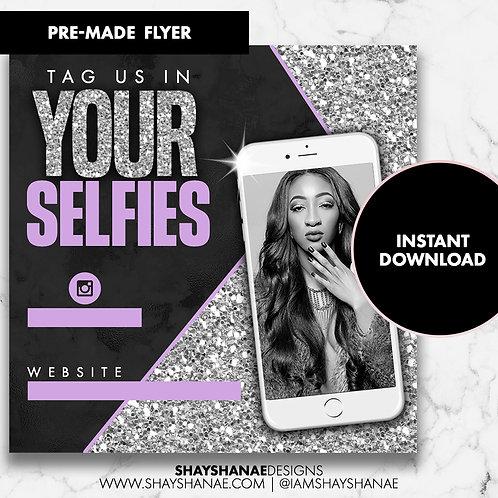 Pre-made Selfies Flyer #91 [Instant Download]