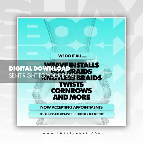 Book Now (Tiffany) Premade [Digital Download]