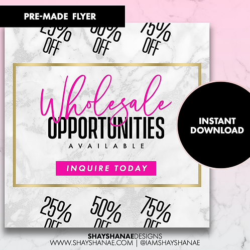 Pre-made Wholesale Flyer #103 [Instant Download]