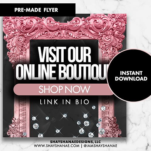Pre-made Boutique Flyer #157 [Instant Download]