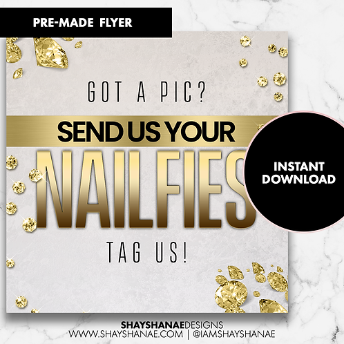 Pre-made Nailfies Flyer #109 [Instant Download]