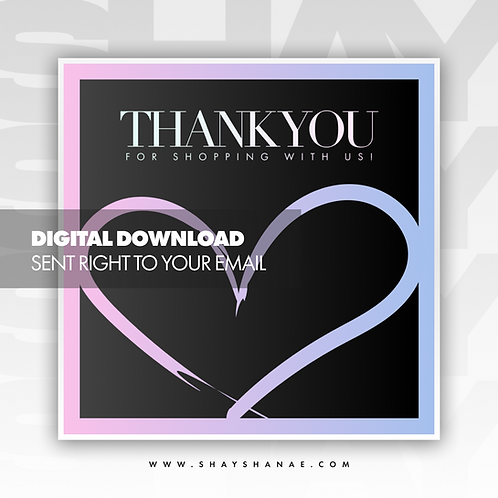 Thank You Premade Flyer (Candy) [Digital Download]