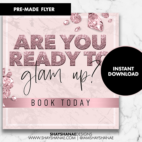Pre-made Glam Flyer #94 [Instant Download]