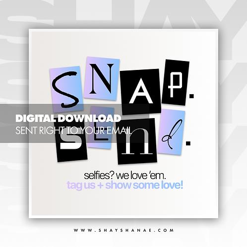 Snap, Send Premade Flyer (Candy) [Digital Download]