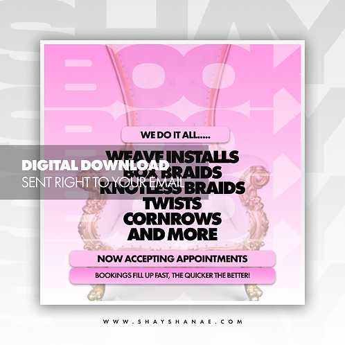 Book Now (Pink) Premade [Digital Download]