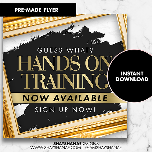 Pre-made Training Flyer #97 [Instant Download]