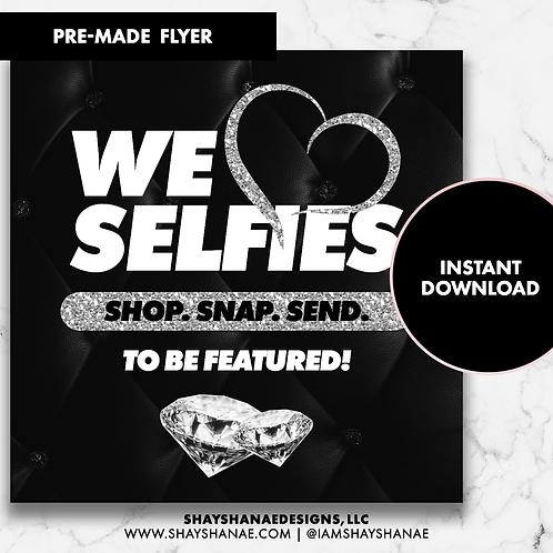 Pre-made Selfies Flyer #148 [Instant Download]