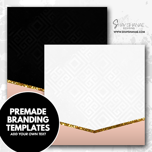 Pre-made Branding Templates [#005] [Instant Download]