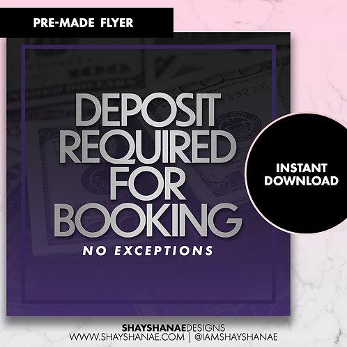 Pre-made Deposit Flyer #88 [Instant Download]