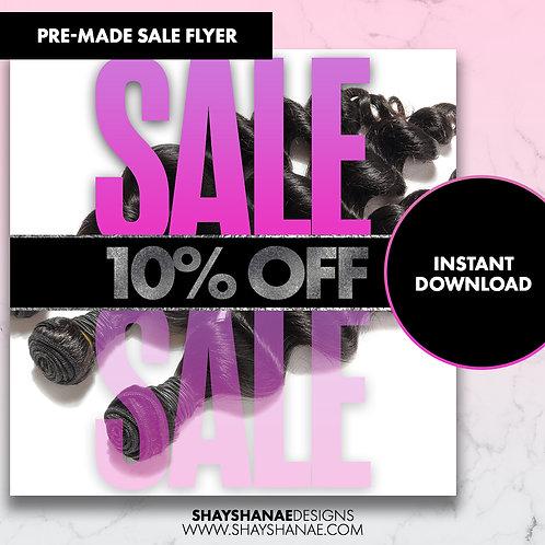 Pre-made 10% Sale Flyer; Purple [Instant Download]