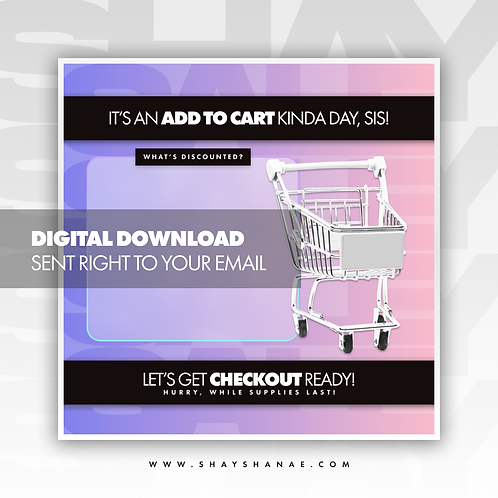 Cart (Pink/Purple) Premade [Digital Download]