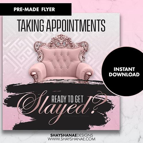 Pre-made Slayed Flyer; Black/Pink [Instant Download]