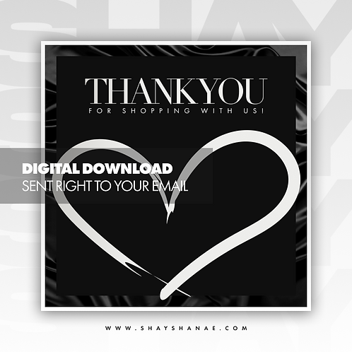 Thank You Premade Flyer (White) [Digital Download]