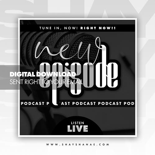 Podcast Premade Flyer (Silver) [Digital Download]
