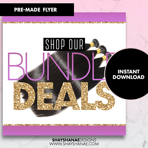 Pre-made Bundle Deals Flyer; Purple [Instant Download]