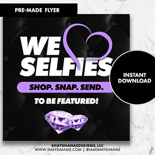 Pre-made Selfies Flyer #146 [Instant Download]