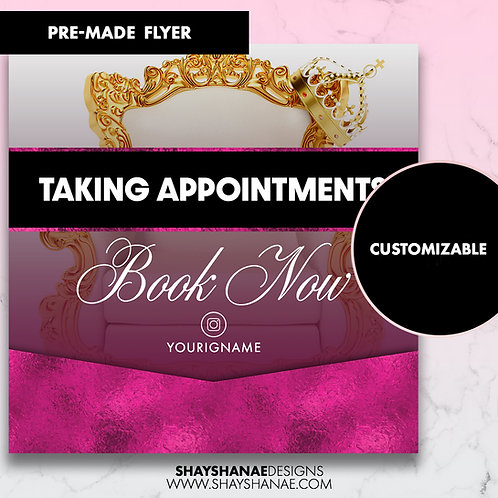 Pre-made Appointments Orders Flyer; Purple [Customizable]