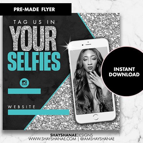 Pre-made Selfies Flyer #90 [Instant Download]