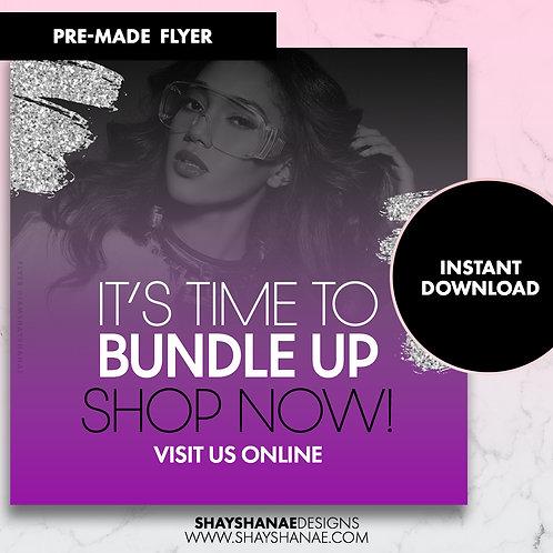 Pre-made Bundle Up Flyer; Purple [Instant Download]