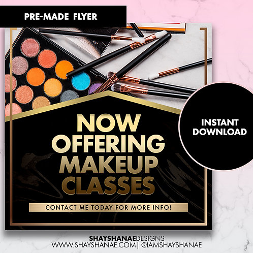 Pre-made Makeup Class Flyer #71 [Instant Download]