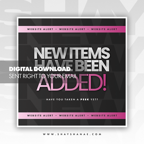 New Items Premade Flyer (Pink) [Digital Download]