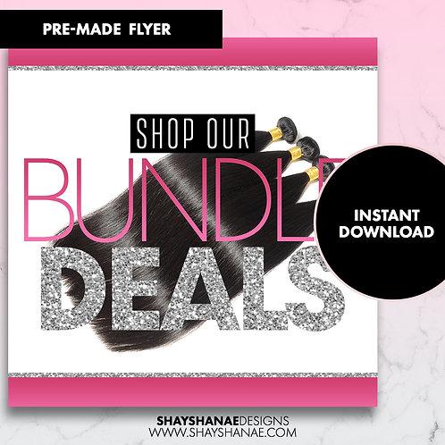 Pre-made Bundle Deals Flyer; Pink [Instant Download]