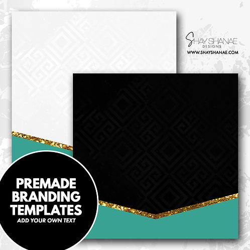 Pre-made Branding Templates [#004] [Instant Download]