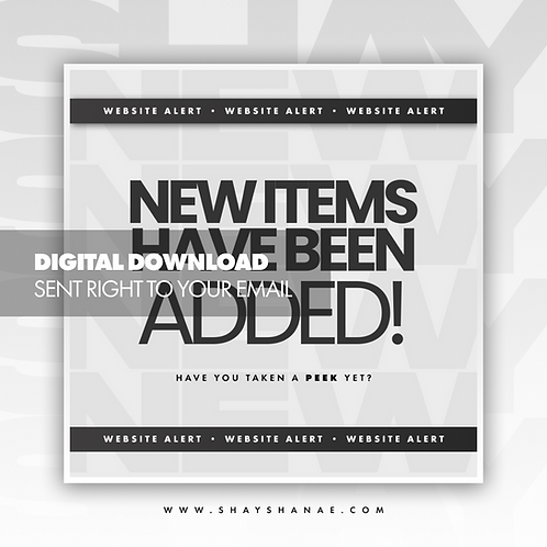 New Items Premade Flyer (White) [Digital Download]