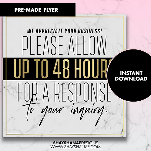 Pre-made Inquiry Flyer; [Instant Download]
